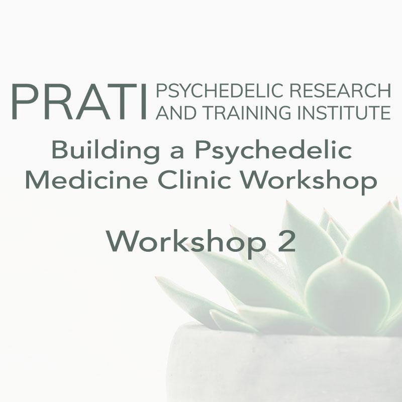 Building a Psychedelic Medicine Clinic Workshop (Workshop 2)